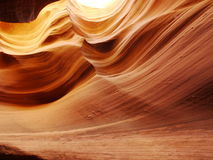 Slot canyon contours Royalty Free Stock Image