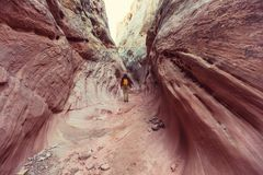 Slot canyon Stock Photography