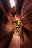 Slot canyon Stock Photo