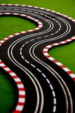 Slot Car 3. Slot car track with double bend Royalty Free Stock Photos