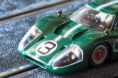 Slot car. Detail slot car professional on a track Stock Image