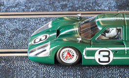 Slot car. Detail slot car professional on a track Royalty Free Stock Photo