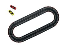 Slot Cars. An image of a toy slot car racing track Stock Image