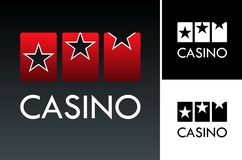 Slot and casino logo Stock Photography