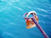 Slot dat met sleutel wordt gesloten royalty-vrije stock foto's