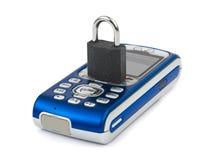 Slot en mobiele telefoon stock foto's