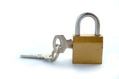 Slot en sleutel royalty-vrije stock fotografie
