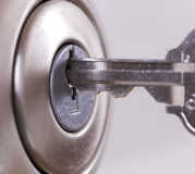 Slot en sleutel Stock Afbeelding