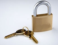 Slot en sleutels royalty-vrije stock foto