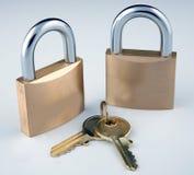 Slot en sleutels stock fotografie