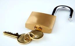 Slot en sleutels Royalty-vrije Stock Foto's