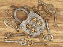 Slot en sleutels. Royalty-vrije Stock Fotografie