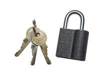 Slot en sleutels Stock Foto