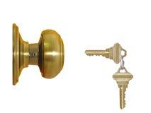 Slot en twee sleutels Stock Afbeelding