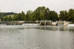 Slot en Waterkering in Mapledurham, Berkshire Royalty-vrije Stock Afbeelding