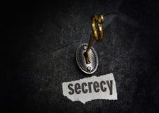 Slot en zeer belangrijk geheim stock foto's
