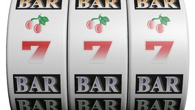 Slot fruit machine Stock Photography