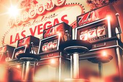 Slot Games in Vegas Concept Stock Photos