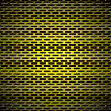 Slot grill gold metal background Royalty Free Stock Images