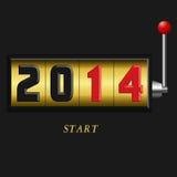 Slot 2014. Illustration of slot 2014 golden Royalty Free Stock Photo