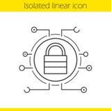 Slot lineair pictogram Stock Fotografie