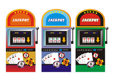 Slot machine. Winning combination on a slot machine Stock Photo