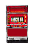Slot machine. On white background Royalty Free Stock Photography