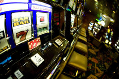 Slot Machine. A slot machine in the casino royalty free stock image