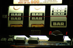 Slot machine. Closeup of a slot machine Stock Images