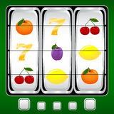 Slot machine. Vector illustration of a slot machine Royalty Free Stock Photography