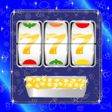 Slot machine. Vector illustration of a slot machine payout Royalty Free Stock Photo