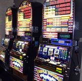 Slot machine a Atlantic City New Jersey Fotografia Stock Libera da Diritti