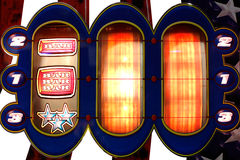 Slot machine background Stock Photo