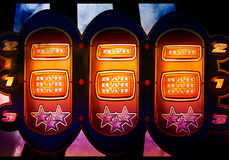 Slot machine background. Nice colorful slot machine in a casino Royalty Free Stock Photo