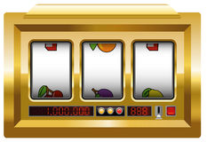 Slot Machine Blank Gold Stock Photography