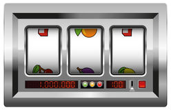 Slot Machine Blank Reels Stock Photography