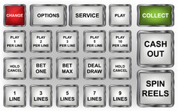Slot machine buttons stock illustration