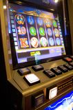 Slot machine in a casino Royalty Free Stock Photography