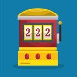 Slot machine casino icon. Illustration design stock illustration