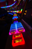 Slot Machine Colors. Row of slot colorful slot machines Royalty Free Stock Image