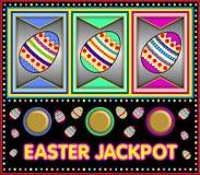 Slot machine con la posta di pasqua Fotografia Stock