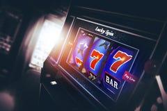Slot machine 3D del casinò Fotografia Stock Libera da Diritti