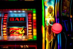 Slot machine del casinò immagini stock libere da diritti