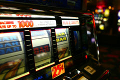 Slot machine del casinò Fotografia Stock
