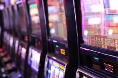 Slot machine del casinò Immagine Stock