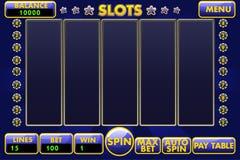 Slot machine dell'interfaccia di vettore in blu colorato Menu completo dell'interfaccia grafica e serie completa di bottoni per illustrazione di stock