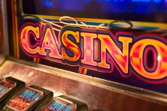 Slot Machine Detail stock image