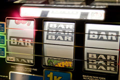 Slot Machine Detail Royalty Free Stock Photos
