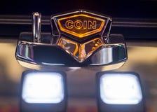 Insert coin slot machine Stock Photo