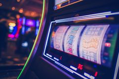 Slot machine di filatura immagini stock libere da diritti